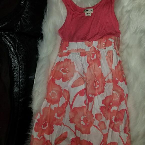 Cherokee Other - Girls size 7 -8 Cherokee orange and white sundress